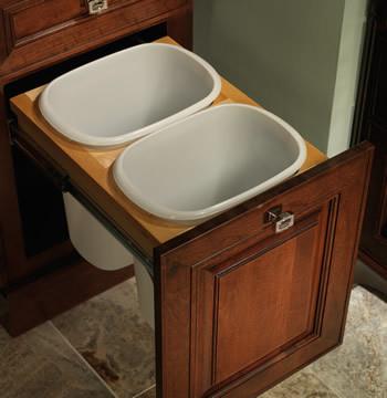 Vanity Linen Cabinet Top Mount Wastebasket Double Traditional Bathroom Ca