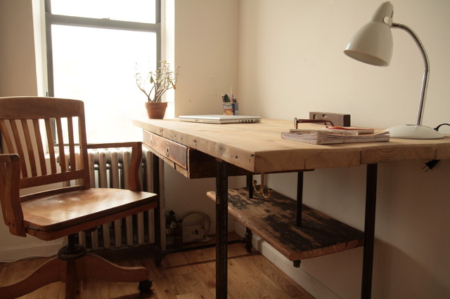 Industrial Reclaimed Wood Stand Up Desk Modern Desks And Hutches New York By Coil Drift
