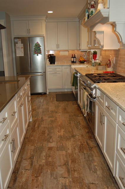 Wood Looking Tile Flooring In Multicolor