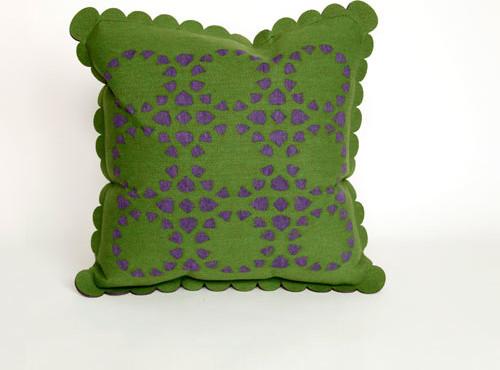 Dahlia Green Pillow contemporary-bed-pillows