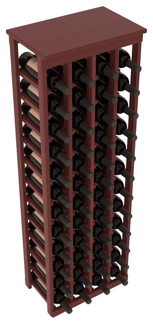 48 Bottle Kitchen Wine Rack in Premium Redwood, Cherry Stain + Satin Finish contemporary-wine-racks