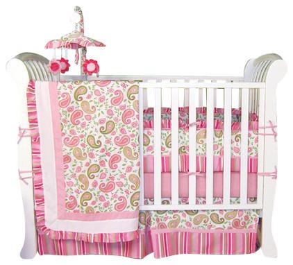 Paisley - Crib Bedding Set (4-Piece) contemporary-baby-bedding