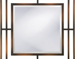 The Howard Elliott Charlie Wall Mirror features a contemporary geometric design modern mirrors