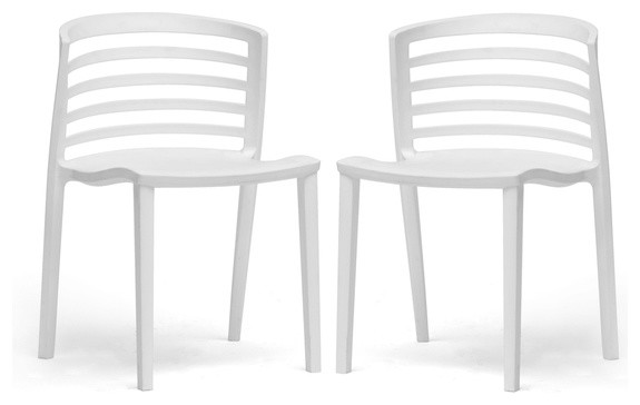White Modern Accent/Dining Chairs modern-dining-chairs