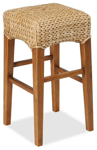 Seagrass Backless Barstool Contemporary Bar Stools And
