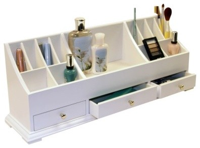 Richards Homewares Personal Organizer, White modern bath and spa accessories