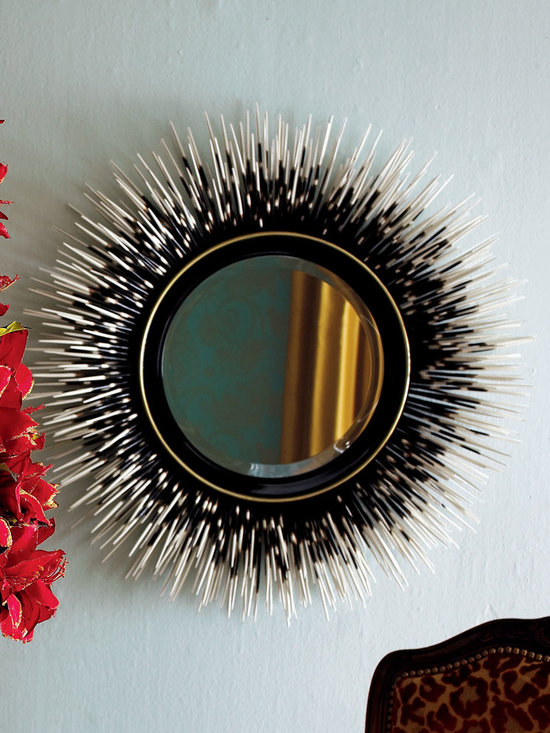 Janice Minor 'Porcupine Quill' Mirror - A twist on the traditional mirror, this is truly an art piece. It creates a statement on your wall and adds an element of quirkiness. It can be dressed up or down to become elegant or casual. One thing is for sure: It's unique.