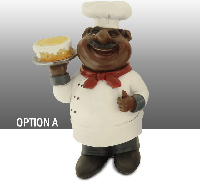 black chef kitchen statue table art decor option a traditional kitchen products by table. Black Bedroom Furniture Sets. Home Design Ideas