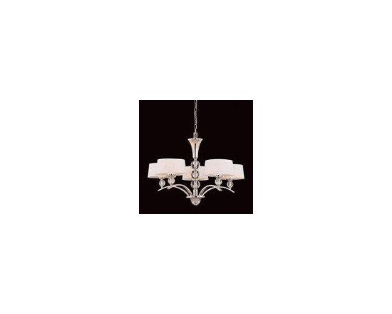 Savoy House 1-1035-5-109 5 Light Murren Chandelier, Polished Nickel -