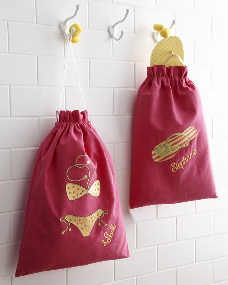 Pink Flip-Flop & Swimsuit Bags contemporary-laundry-products
