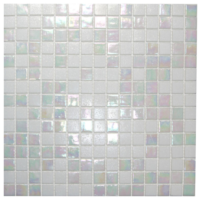 mixed white cloud glimmer glass tile modern tile