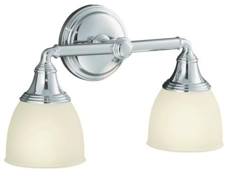 KOHLER K-10571-CP Devonshire Double Wall Sconce in Chrome - Traditional - Bathroom Vanity ...