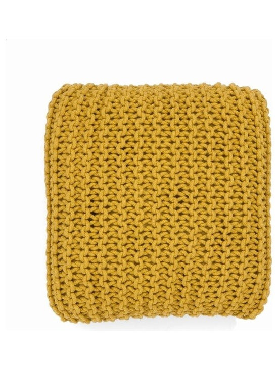 Ferm Living Knitted Cylinder - The Ferm Living Floor Cushions are hand-knitted and made of 100% cotton rope, and filled with little styrofoam balls, which ensures that the cushions do not loose their shape.