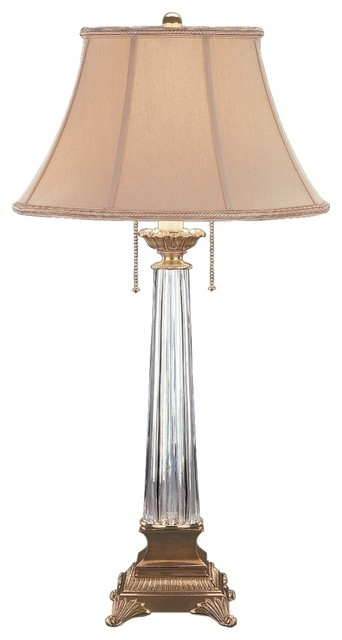 crystal waterford crystal table lamp traditional table. Black Bedroom Furniture Sets. Home Design Ideas