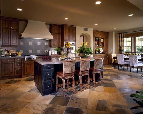 BURNT SIENNA WITH RUSTIC BLACK KITCHEN Kitchen Cabinetry San Diego