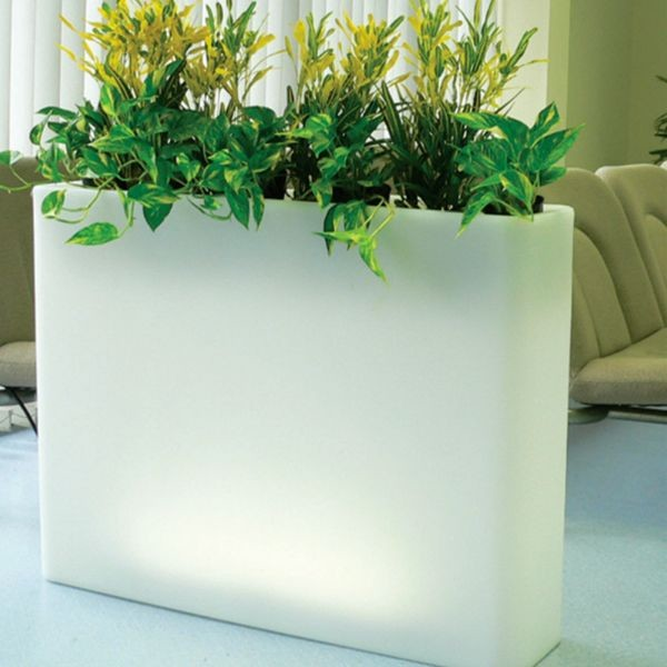 Illuminated Indoor Outdoor Planters Outdoor Pots And Planters Chicago B