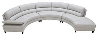 Franchesca Sectional Sofa, 3 Piece (Loveseat, Armless Loveseat and Chaise) modern sofas