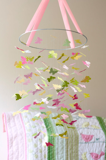 The Penelope Butterfly Mobile By littledreamersinc contemporary-baby-mobiles