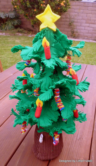 Felt Christmas Tree Toy By Little Fruits Contemporary