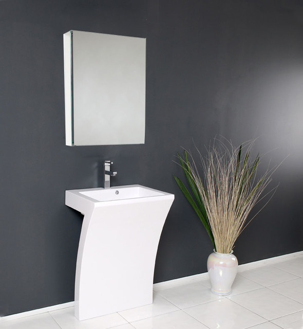 Quadro Pedestal Sink - Modern Bathroom Vanity by Fresca modern ...