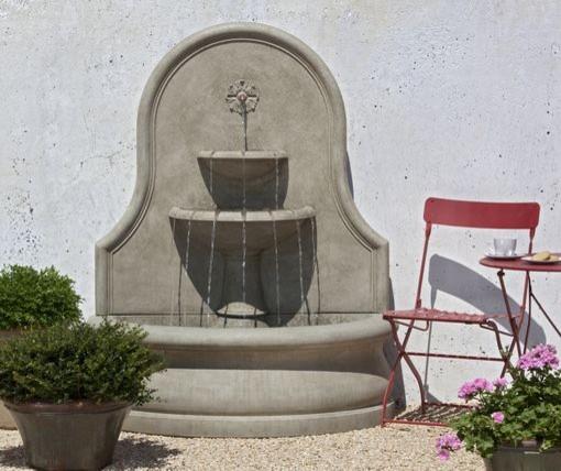 Estancia garden wall fountain outdoor fountains and for Outdoor wall fountains