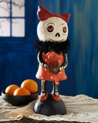 Bethany Lowe Large Skelly with Doll Halloween Figure traditional-holiday-decorations