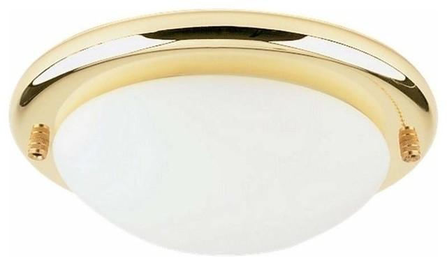 1 light ceiling fan light kit polished brass traditional. Black Bedroom Furniture Sets. Home Design Ideas