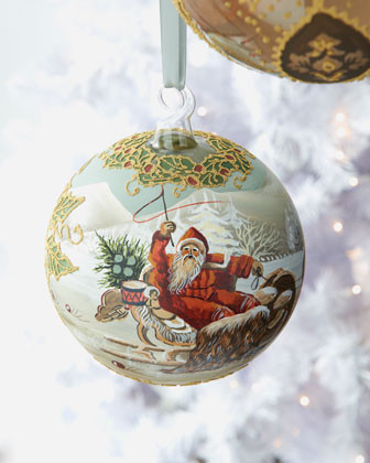 PETER PRIESS HANDICRAFTS Large Santa Holiday Ornament traditional-holiday-decorations