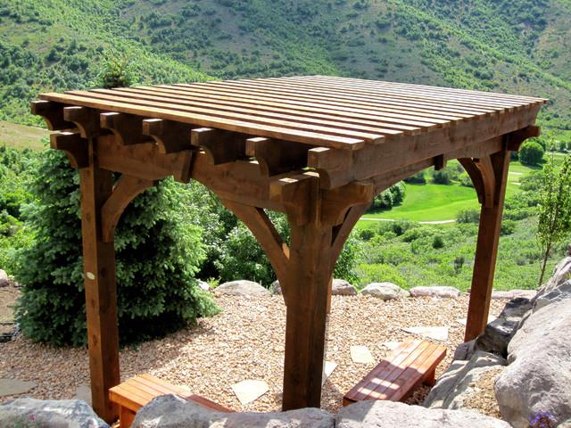 Lounge Size Pergolas contemporary-landscape