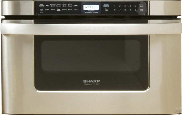 Sharp Insight Pro Series Built-In Microwave Drawer contemporary microwave