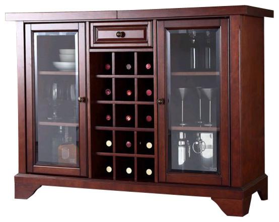 Crosley LaFayette Sliding Top Bar Cabinet in Vintage ...