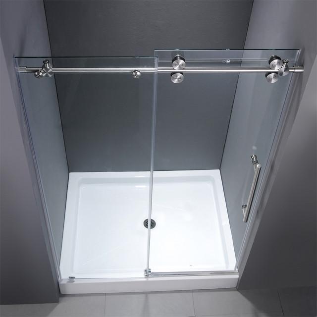 VG6041CHCL48WM 48 Inch Frameless Shower Door Modern Showerheads And Bod