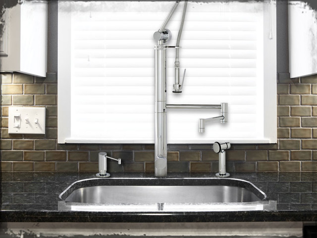 Waterstone Contemporary Gantry Faucet contemporary-kitchen-faucets