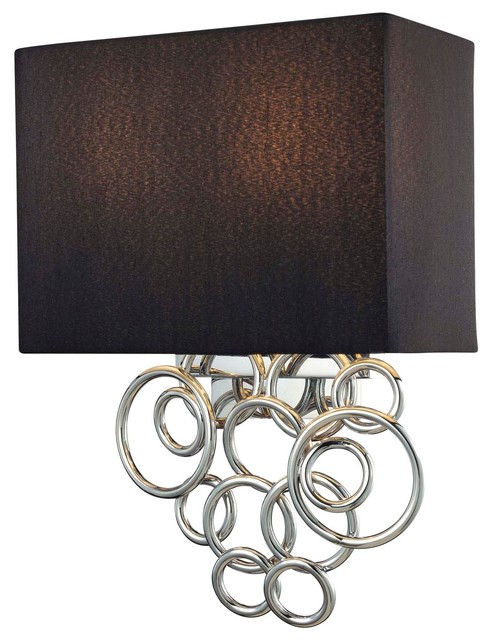 Wall Sconce Lighting Design : George Kovacs Ringlets Chrome 2-Light Wall Sconce - Contemporary - Wall Sconces - other metro ...