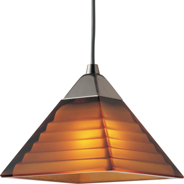 Progress Lighting P6139-09A 1-Light Flex Track System with Amber Glass transitional-track-heads-and-pendants