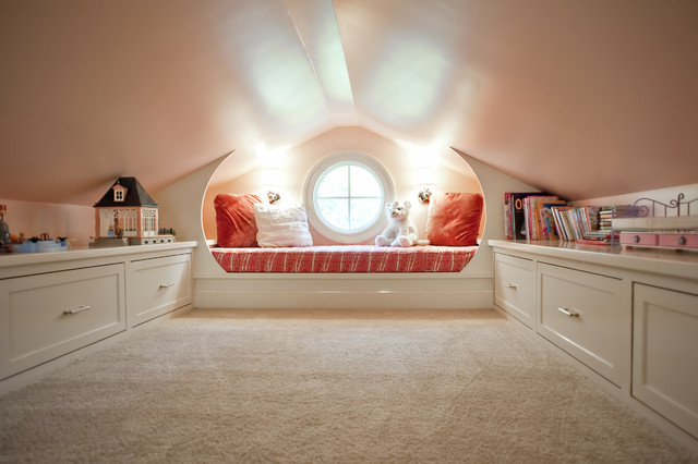 white attic playroom traditional kids louisville by rock paper hammer. Black Bedroom Furniture Sets. Home Design Ideas