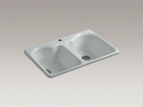Top Mount Kitchen Sinks : ... top-mount double-equal kitchen sink with s contemporary-kitchen-sinks
