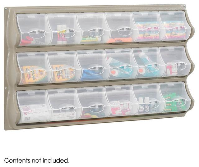 18 Pocket Panel Bins - Grey modern-trash-cans
