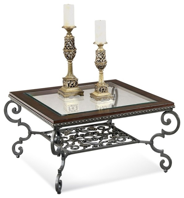 Traditional Pine Coffee Table: Giordino Square Cocktail Table And 2