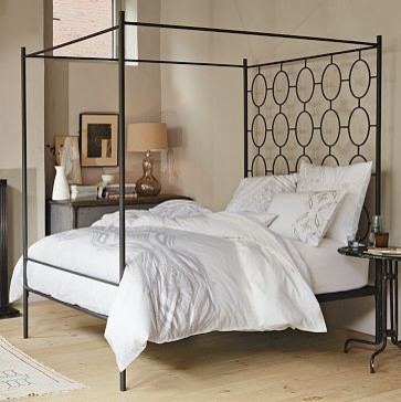 Ellipse Metal Canopy Bed | west elm contemporary beds