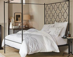 Ellipse Metal Canopy Bed | west elm contemporary-canopy-beds