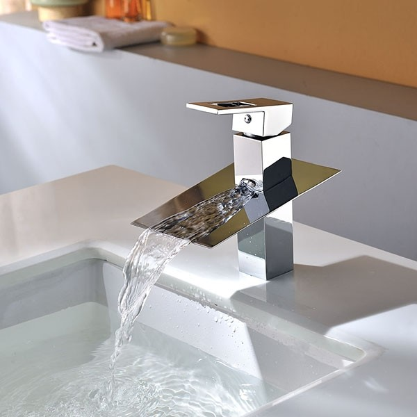 Single Handle Chrome Bathroom Fitting Brass Basin Faucet modern-bathroom-faucets-and-showerheads
