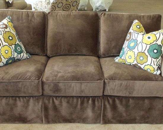 "Customer Custom Orders - Rowe Hermitage ""Faux"" Slipcover Sofa - You Choose the Fabric"