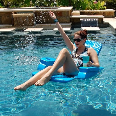 Texas Recreation Folding Baja Chair Foam Pool Float modern-living-room-chairs