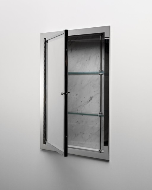 Recessed Metal Medicine Cabinet - Traditional - Medicine Cabinets - other metro - by Waterworks