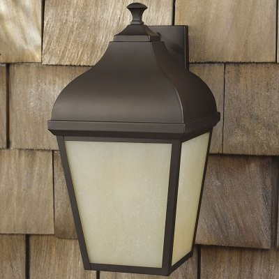 Murray Feiss Terrace Outdoor Wall Lantern - 18.5H in. Oil Rubbed Bronze - ENERGY modern-outdoor-lighting