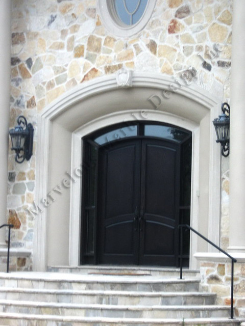 Curved Indiana Limestone Door Surround Traditional
