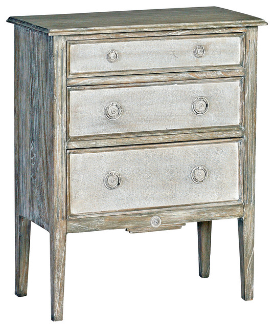 French Country Living Room Coffee Table: Holly Heavy Distressed Painted Burlap French Country