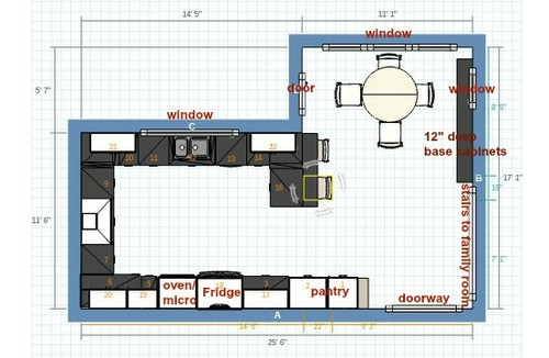 Kitchen Layout Again Island Or Peninsula
