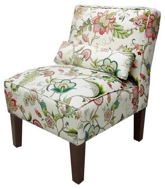 Custom Bryce Upholstered Armless Slipper Chair